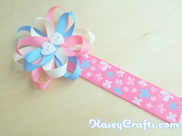 How To Make Flower Ribbon Bookmark For Kids Using Grosgrain within How To Make Bookmarks For Students 29562