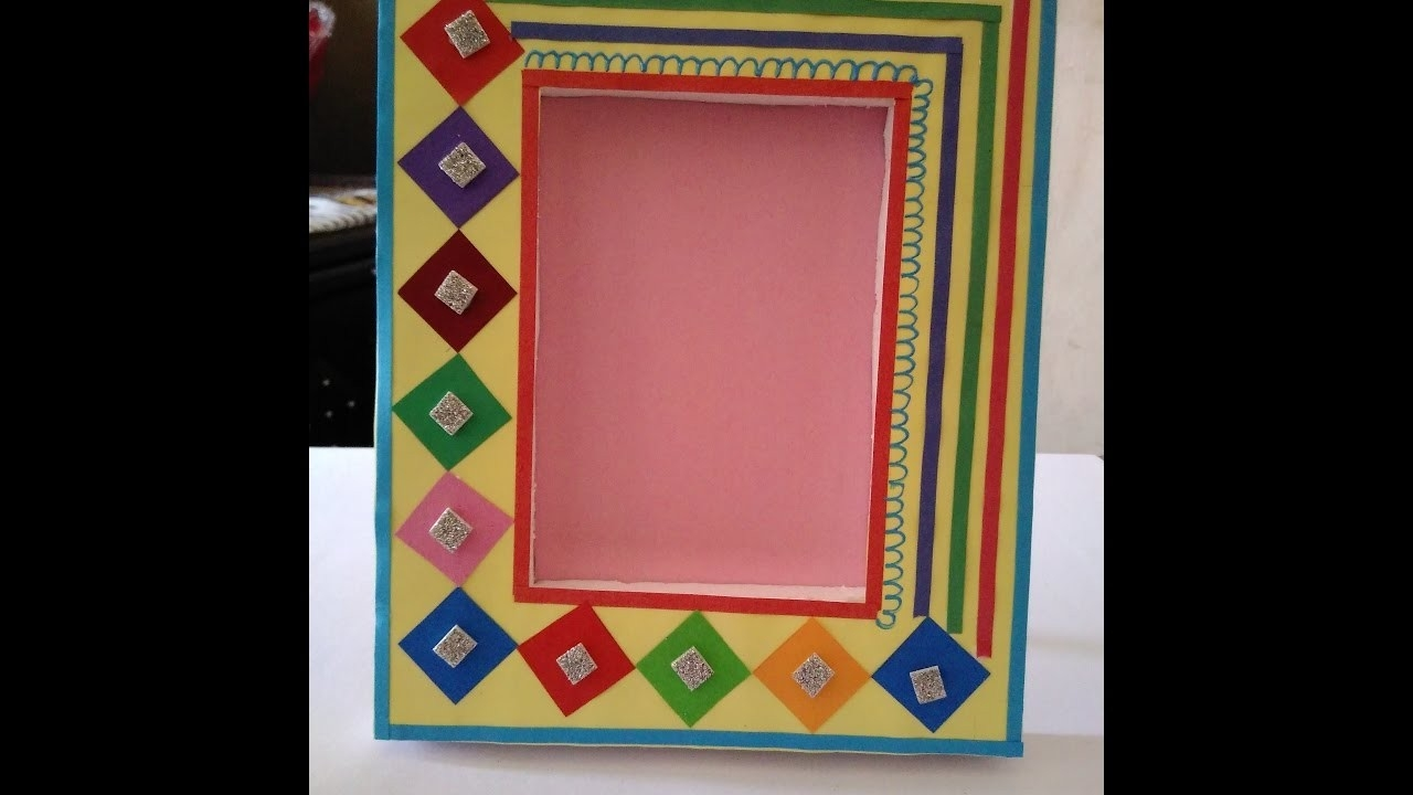 How To Make Handmade Photo Frame || Beautiful Photo Frame || Make within How To Make Handmade Photo Frames With Handmade Paper Step By Step 27693