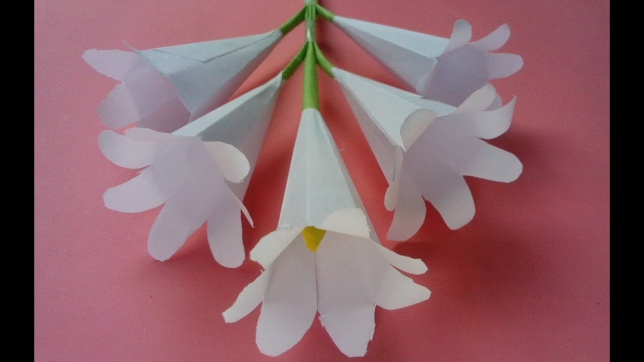 How To Make Origami Paper Flowers | Flower Making With Paper pertaining to How To Make Paper Roses Origami Step By Step 29086