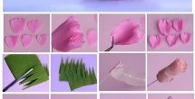 How To Make Paper Roses Origami Step By Step