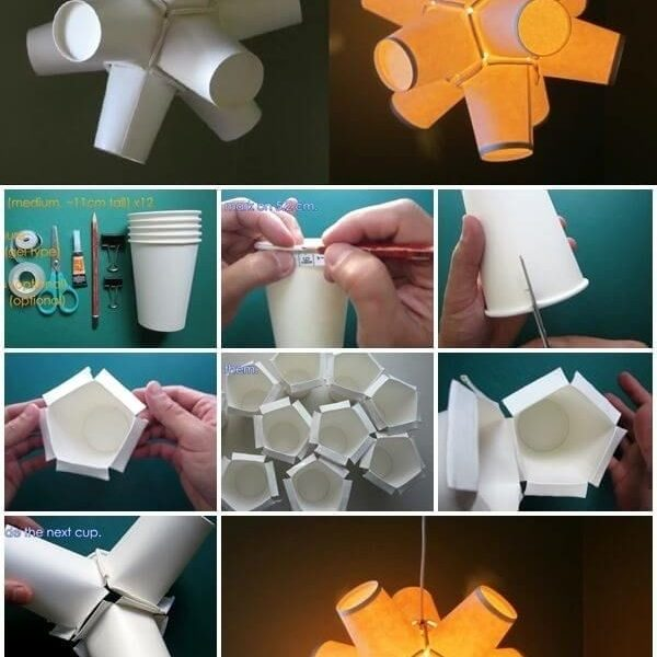 How To Make Paper Cup Lamp Boof Ideas Pinterest Diy Paper For
