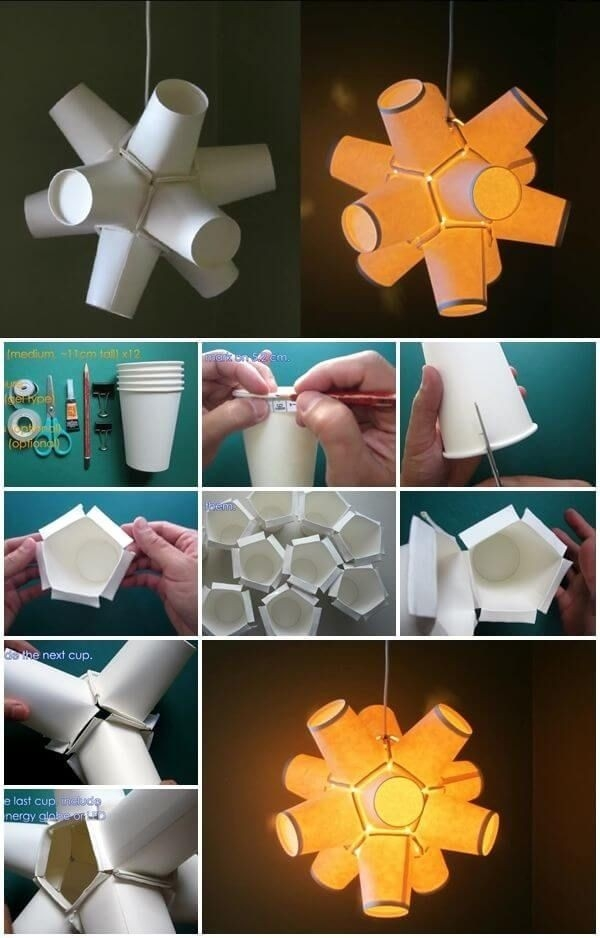 How-To-Make-Paper-Cup-Lamp | Boof Ideas | Pinterest | Diy Paper for How To Make Paper Crafts For Adults 26845