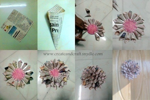 How To Make Paper Dahlias – Diy Wall Decor – Create And Craft For inside How To Make Wall Hangings With Paper Step By Step 29300