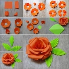 How To Make Paper Flowers With Construction Paper For Kids for Construction Paper Flowers 28616