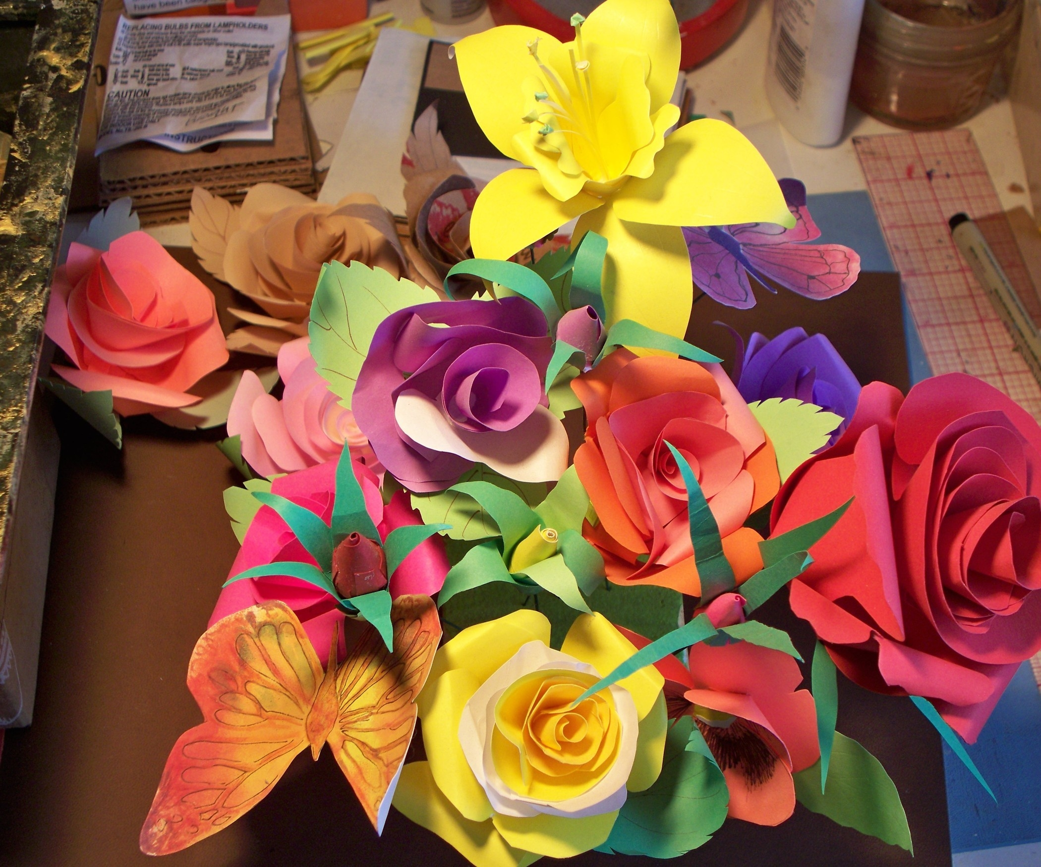 How To Make Paper Roses: 9 Steps (With Pictures) intended for How To Make Paper Roses With Construction Paper Step By Step 27563