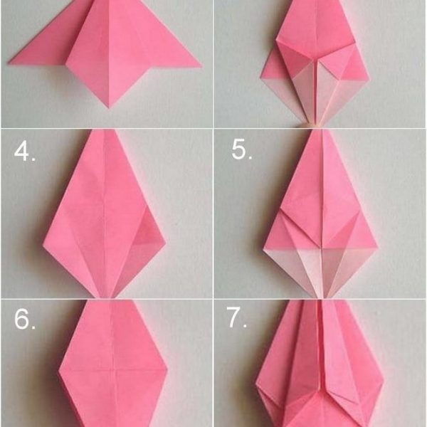 How To Make Paper Roses Origami Step By Step | World Of Example regarding How To Make Paper Roses Origami Step By Step