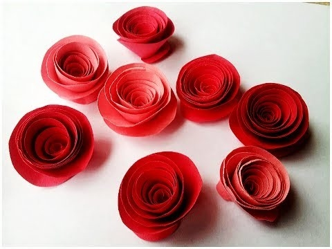 How To Make Rolled Paper Roses Quick & Easy Tutorial - Youtube with regard to How To Make Paper Roses Step By Step With Pictures 29076