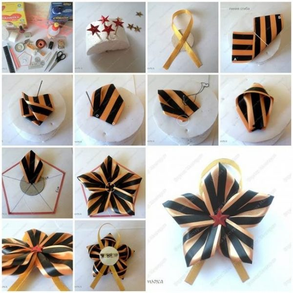 How To Make Satin Ribbon Star Brooch Brooches Satin And Star