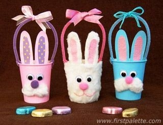 How To Make These Adorable Easter Bunny Baskets Out Of Paper Cups inside Art And Craft For Kids With Paper Cups Step By Step 29330