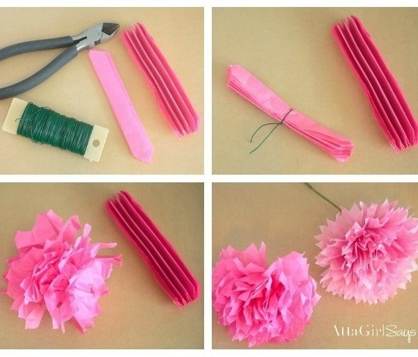 How To Make Tissue Paper Flowers – World Love Flowers For How To with How To Make Paper Flowers With Tissue Paper Step By Step 29055