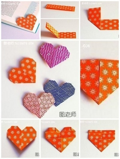 How To Make Your Own Lovely Heart Shape Bookmark Step By Step Diy for How To Make Heart Bookmarks Step By Step 27868
