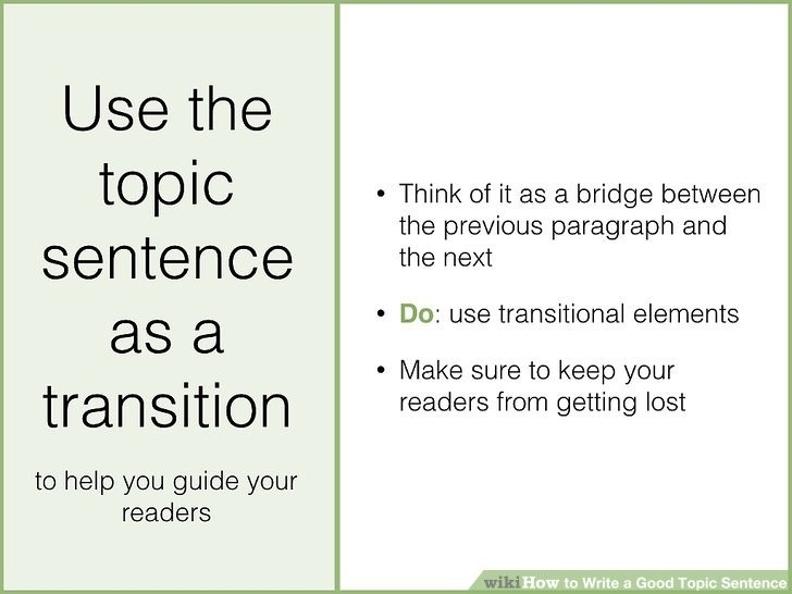 How To Write A Good Topic Sentence (With Sample Topic Sentences) inside Topic Sentence Examples For College 28881