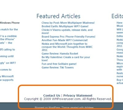 Html5 Tutorial - Semantic <Footer> pertaining to Copyright Example Footer 28721