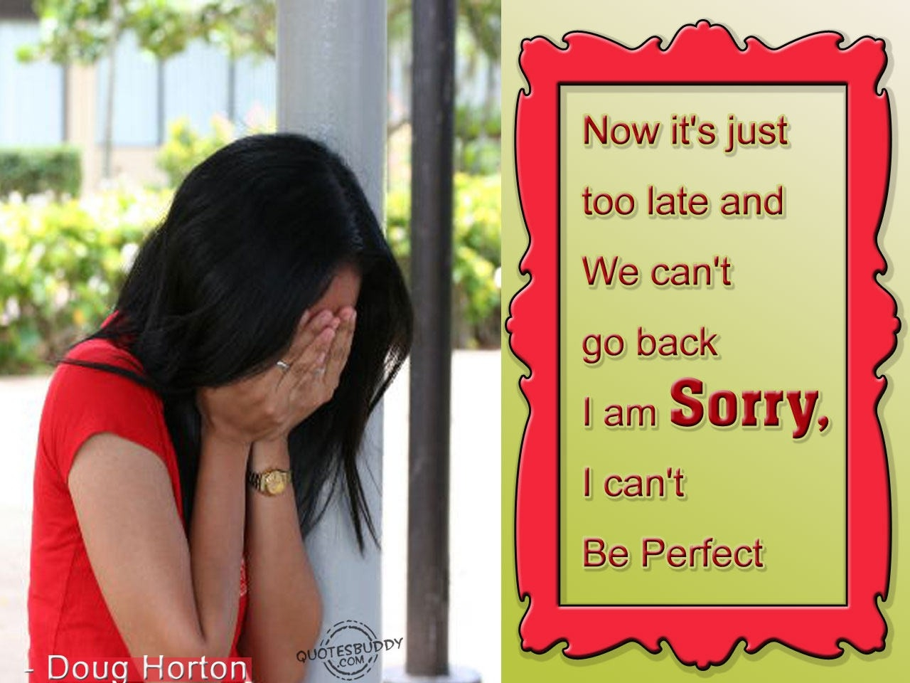 I Am Sorry, I Can't Be Perfect for I Am Sorry Quotes For Best Friends In Hindi 30722