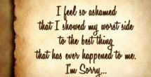 I Am Sorry Quotes For Husband