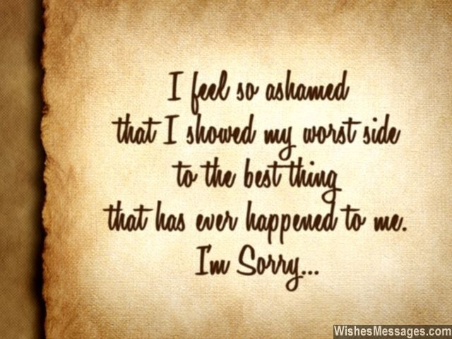 I Am Sorry Messages For Husband: Apology Quotes For Him intended for I Am Sorry Quotes For Husband 28554