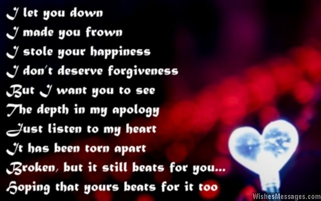 I Am Sorry Messages For Husband: Apology Quotes For Him regarding I Am Sorry Quotes For Husband 28554