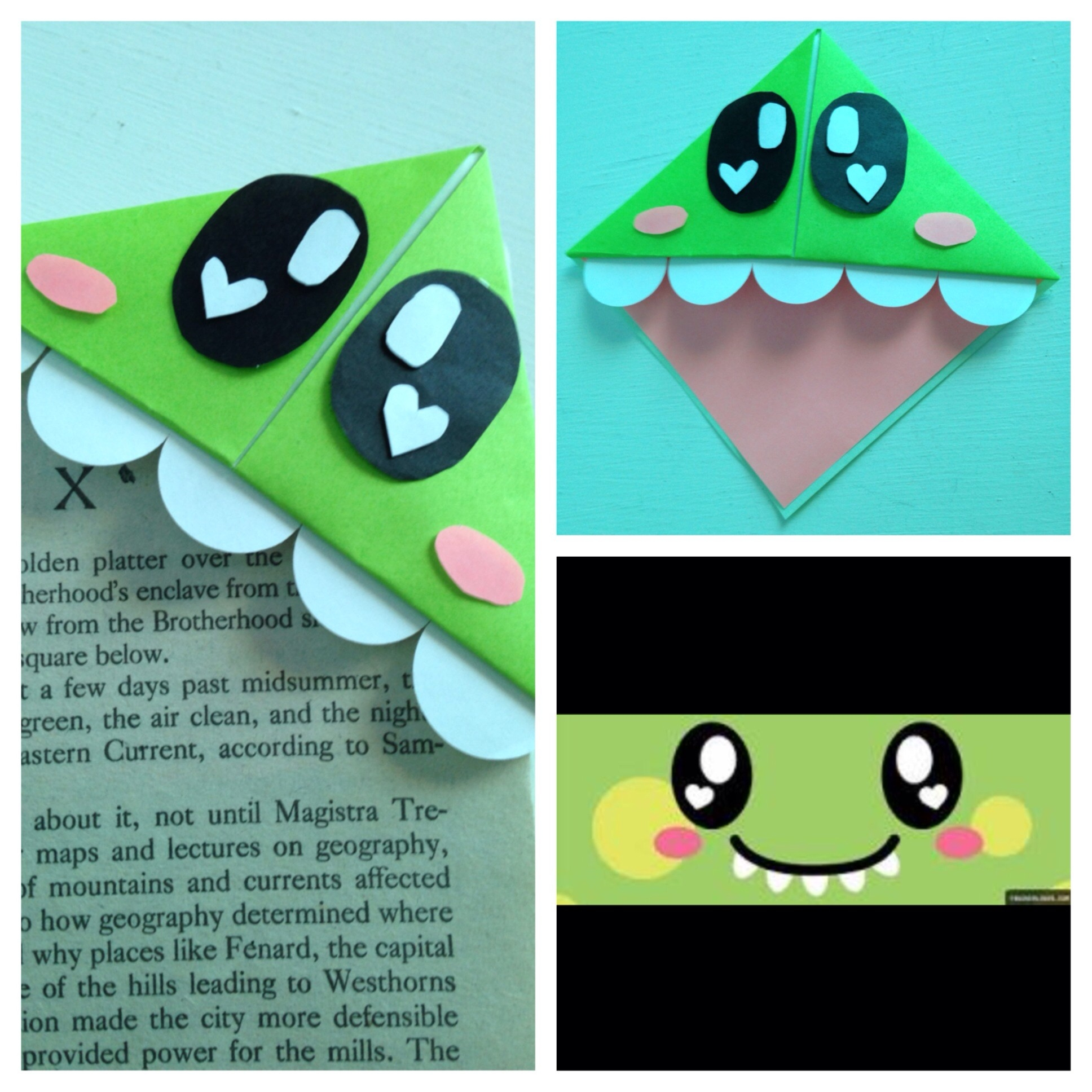 I Found A Cute Bookmark Idea And I Decided To Make A Cute Dinosaur within Cute Bookmarks To Make 28010