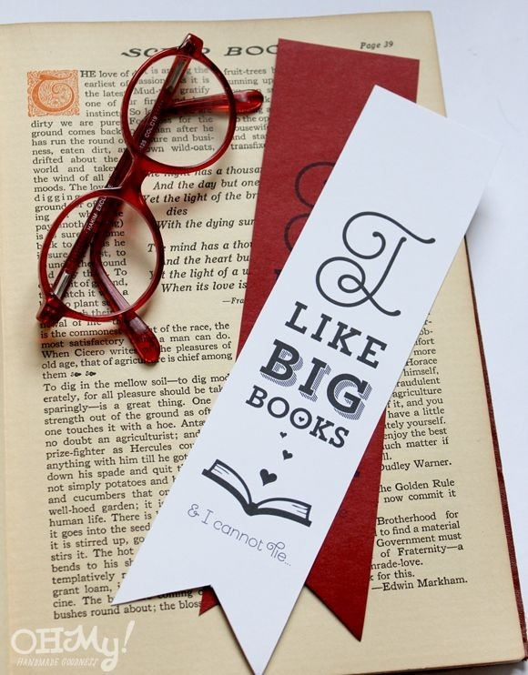 I Like Big Books & I Cannot Lie Printable Funny Valentine's with Creative Bookmarks For Books 29753
