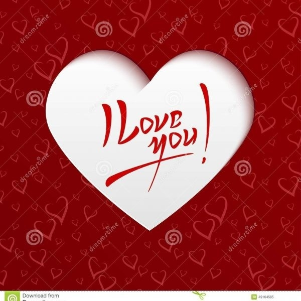I Love You – Valentines Day Greeting Card Stock Vector With Regard pertaining to I Love U Cards Greetings 30138