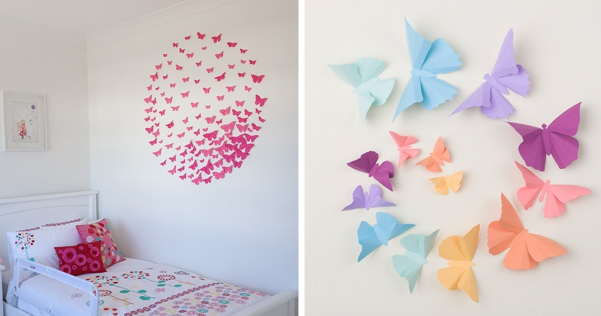 I Make 3D Paper Wall Decorations To Fix Boring, Flat Walls | Bored in Construction Paper Wall Art 27430