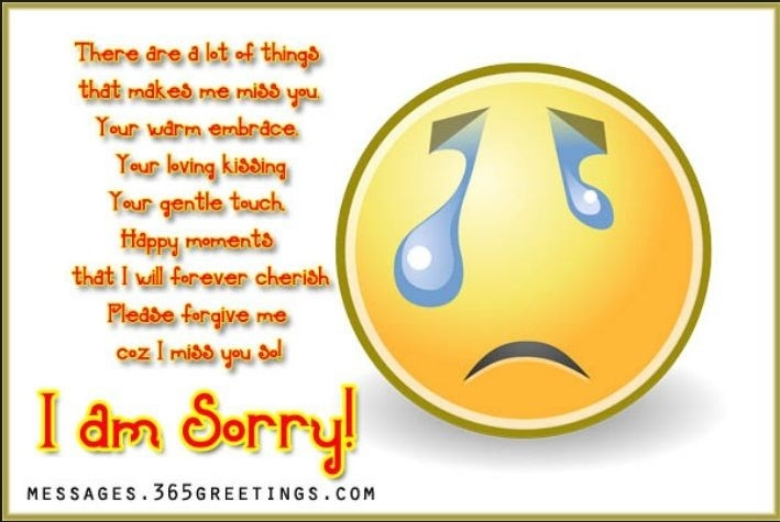 I Miss U And I Am Sorry :( | >-All In 1- Quotes< | Pinterest pertaining to I Am Sorry Quotes For Husband 28554