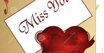 I Miss U Cards For Love