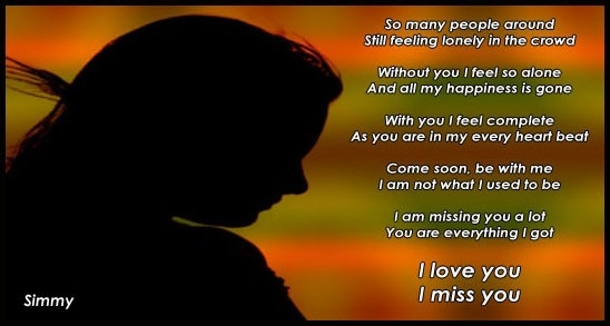 I Miss You, I Love You. Free Missing Him Ecards, Greeting Cards within I Miss U Cards For Love 30148