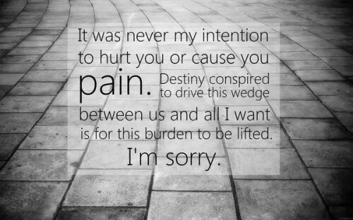 I'm Sorry Love Quotes For Her & Him - Apology Quotes Pics pertaining to I Am Sorry Quotes For Hurting You 27380