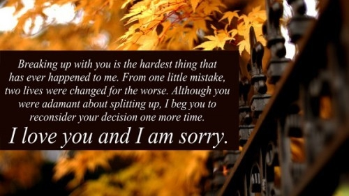 I'm Sorry Love Quotes For Her & Him - Apology Quotes Pics throughout Sorry Images For Lover With Quotes 27370