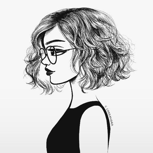 Image Result For Black And White Girl Drawings | Style | Pinterest in Simple Black And White Drawings Of Faces 30105