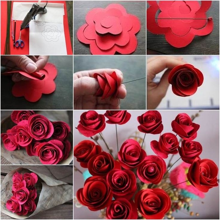 Image Result For Make Paper Flowers For Weddings | Projects To Try inside How To Make Paper Roses With Construction Paper Step By Step 27563