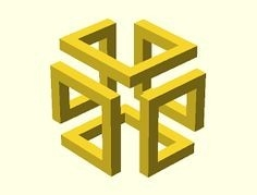 Impossible Cube - Google Search | Design | Pinterest | Geometric regarding Geometric Form 24723