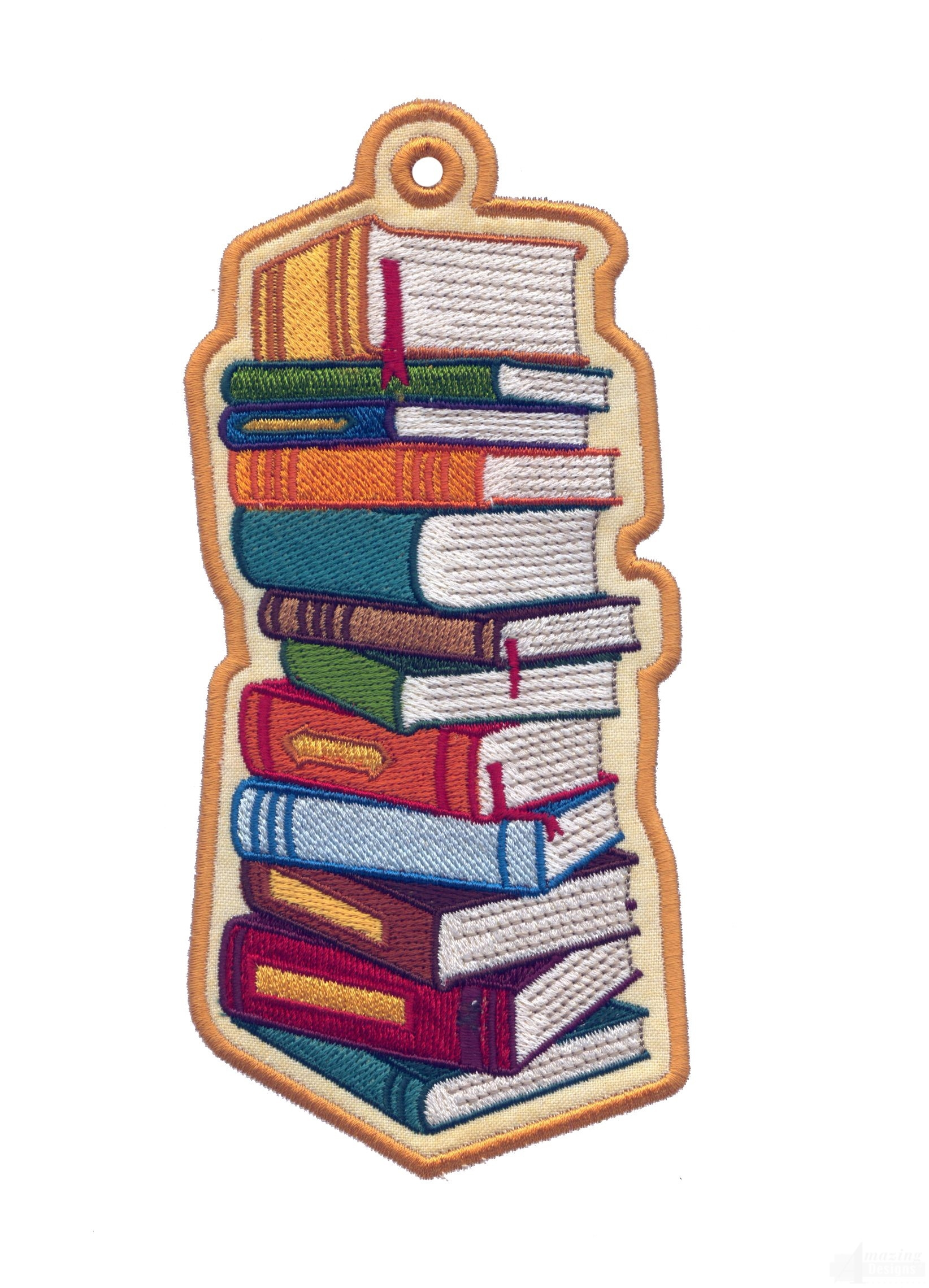 In The Hoop Novelty Bookmarks Embroidery Design Collection with regard to Bookmarks For Books Designs 27943