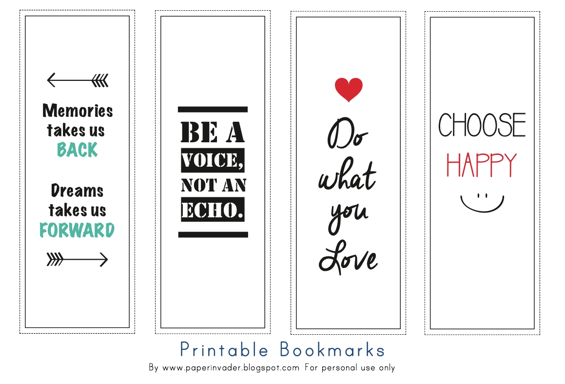 Inspiring Bookmarks Printable - Google Search | Lucruri De inside Cute Bookmarks With Quotes 28020