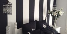 Bedroom Wall Painting Designs Black And White