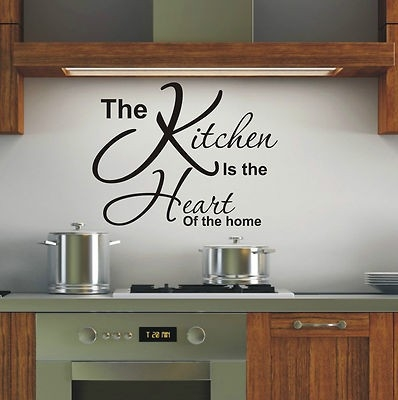 Is Heart Of The Home Wall Art Sticker Quote - 4 Sizes - Loads Of with Kitchen Wall Art Quotes 26594