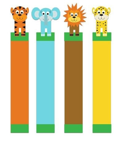 Jungle Critter Bookmarks To Print By Mina Keenan | E-Printables throughout Cool Animal Bookmarks To Print 26644
