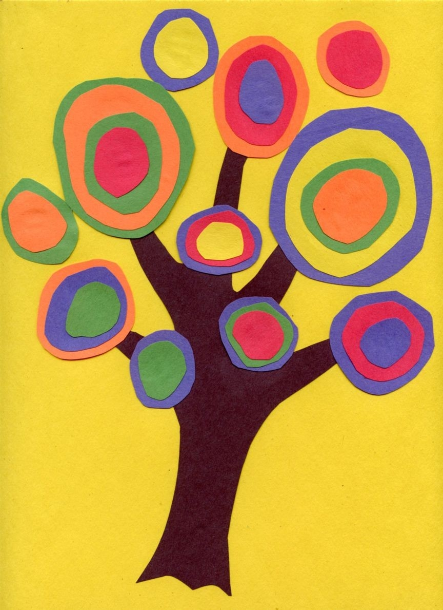 Kandinsky Tree Collage | Kandinsky, Construction Paper Art And with Construction Paper Art For Kids 29000