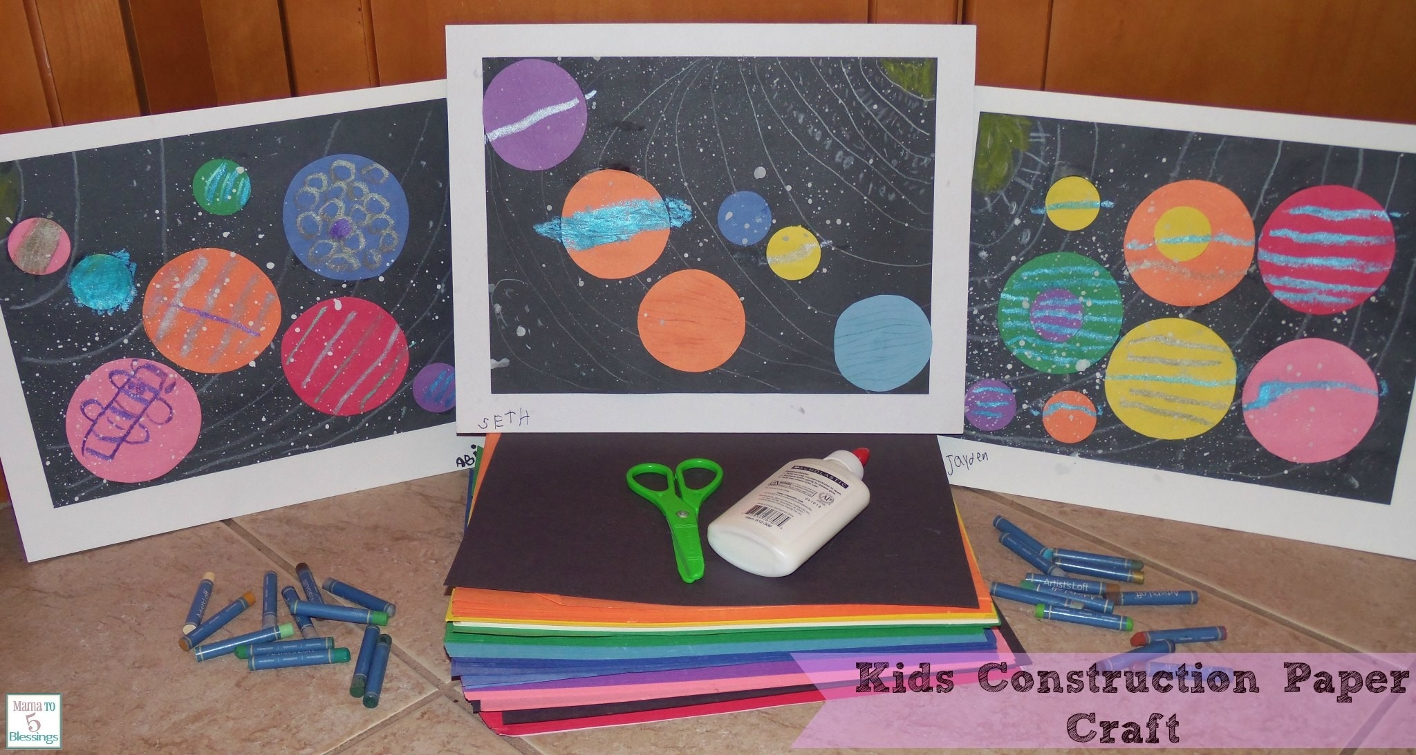 Kids Construction Paper Craft - Learn & Link With Linky - Mama To intended for Construction Paper Art Projects 28677