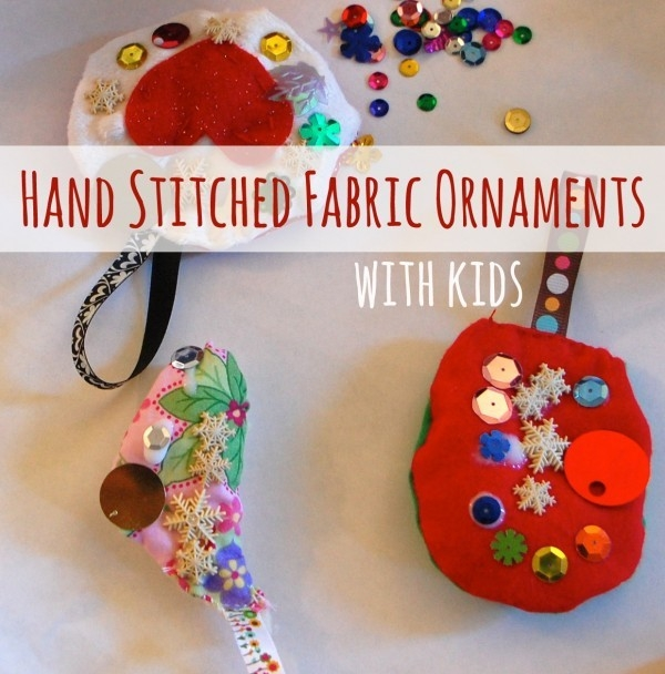 Kids Crafts Ideas: Hand Stitched Ornament With Kids throughout Handmade Arts And Crafts Ideas 29200