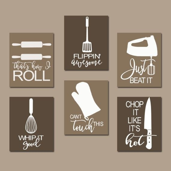 Kitchen Quote Wall Art, Funny Utensil Pictures, Canvas Or Prints pertaining to Kitchen Wall Art Canvas 26584