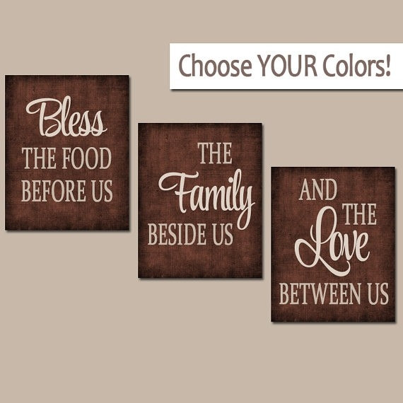 Kitchen Wall Art Canvas Or Prints Kitchen Quote Decor Bless with Kitchen Wall Art Canvas 26584