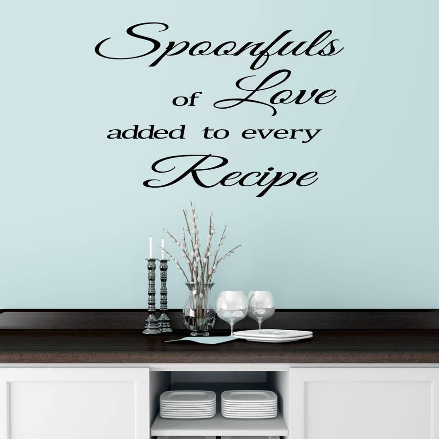 Kitchen Wall Sticker Quote By Mirrorin | Notonthehighstreet within Kitchen Wall Art Quotes 26594