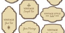 Label Templates Free Download Vintage Png