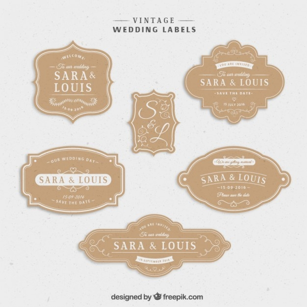 Vintage Label Template Vector | Examples and Forms