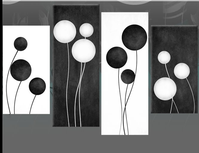 Large Black And White Abstract Circles Canvas Pictures Wall Art regarding Black And White Abstract Wall Art 27300