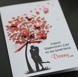 Large Handmade Personalised Love Tree Valentine's Card/husband pertaining to Handmade Love Cards For Husband 30198