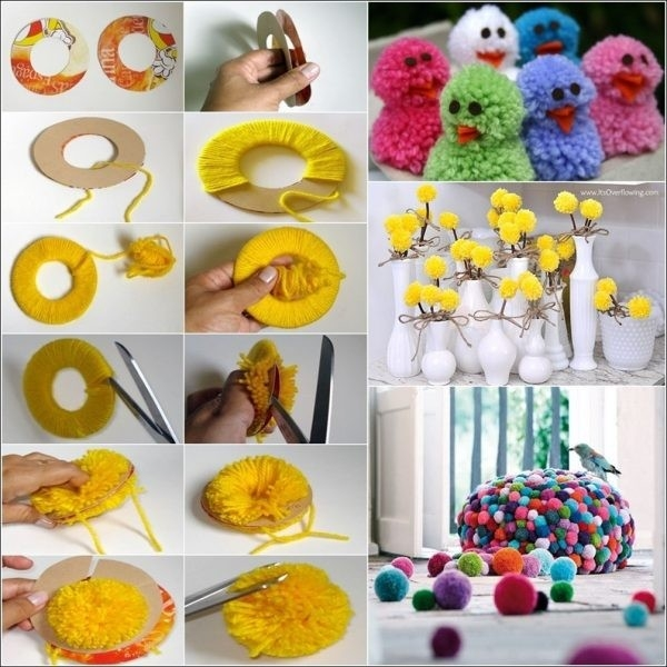 Learn How To Make Pom Poms And Craft Decorative Items From Them with regard to How To Make Handmade Things For Decoration Step By Step 29035