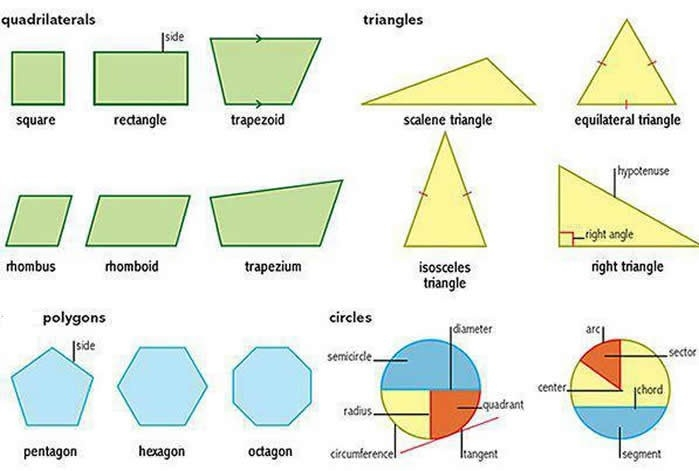 Learning Shapes Triangles Circles Polygons Quadrilaterals for Quadrilateral Shapes Names 25703